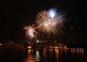 Fiestas de San Vicente 2019 en Collioure - Fuegos artificiales