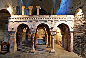 The Priory of Serrabone - Pink marble podium