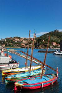Collioure - barcos catalanes
