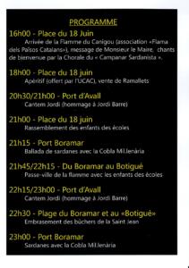 Saint Jean-Baptist Festivities - Program