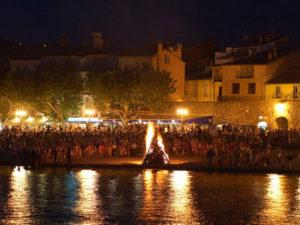 Saint Jean-Baptist Festivities - Bonfires on the beach of Collioure