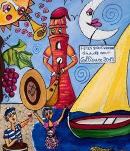 Affiche de la fête de Saint vincent 2019 à Collioure