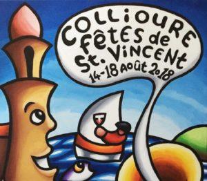 Affiche des fêtes de la Saint-Vincent 2018 à Collioure
