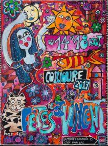 Affiche de la fête de Saint vincent 2017 à Collioure